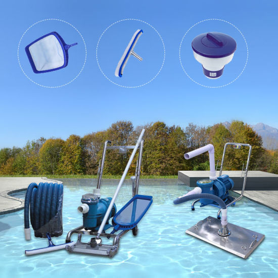Ladder Cleaning Tools LED Lights Pool Accessories Swimming Pool Equipment