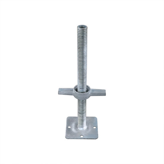 ANSI Certified Building Material / Adjustable Base Jack / Ringlock Scaffold for Construction