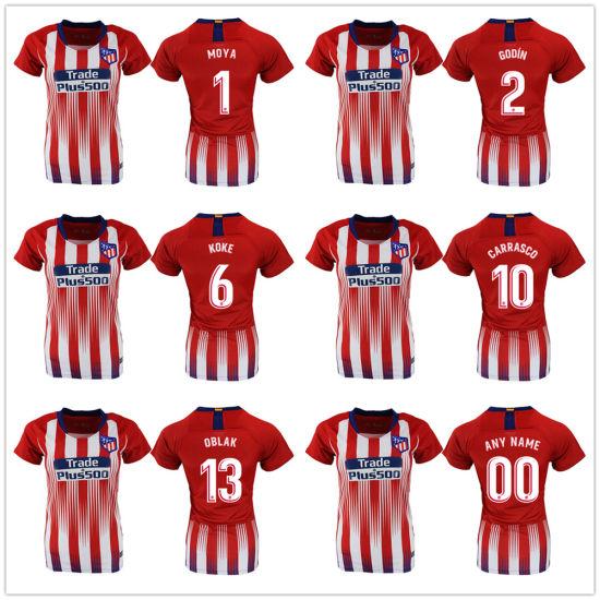 new product cb45a 7bf68 Custom Madrid Atletico Soccer Jersey Griezmann Correa Football Shirt