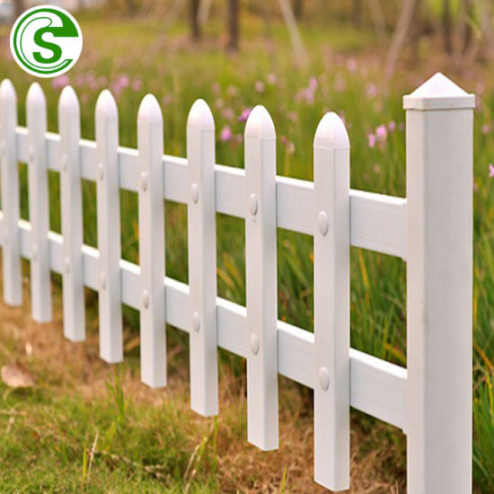 Factory Light Weight Small Plastic Picket Fencing Panels for Garden