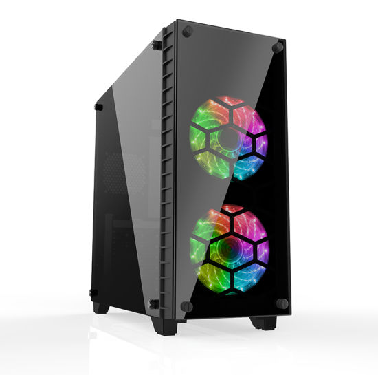 ATX Gaming Case with RGB Fan and Tempered Glass