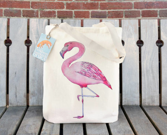 Foldable Fabric Recycle/Eco/Grocery Tote Gift Beach Canvas Cotton Shopping Bag