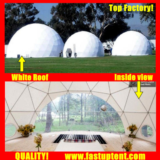 Supplier White Diameter 6m Geodesic Dome Tent for Outdoor Party
