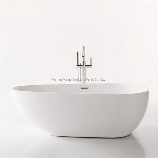 Bathroom Furniture Sanitary Wares Oval Acrylic Freestanding Bathtub (BA-8203B)