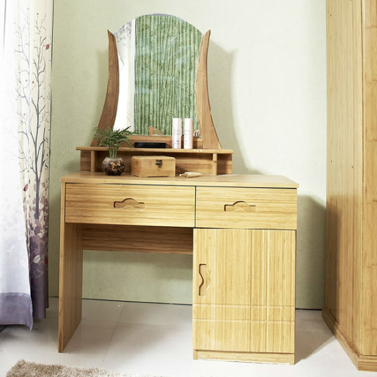 Vanity Bamboo Glass Dressing Table for Bedroom Furniture