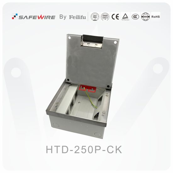 22mm Cavity Stainless Adjustable Floor Boxes/Electrical Outlet/ Socket