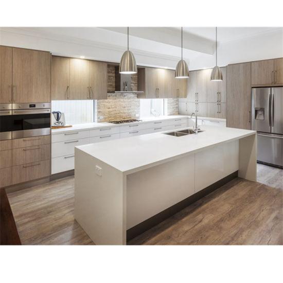 China Modern White High Gloss Kitchen Cabinet With Island Design 2020 New Modular Kitchen China Kitchen Cabinets Wood Veneer Kitchen Cabinets