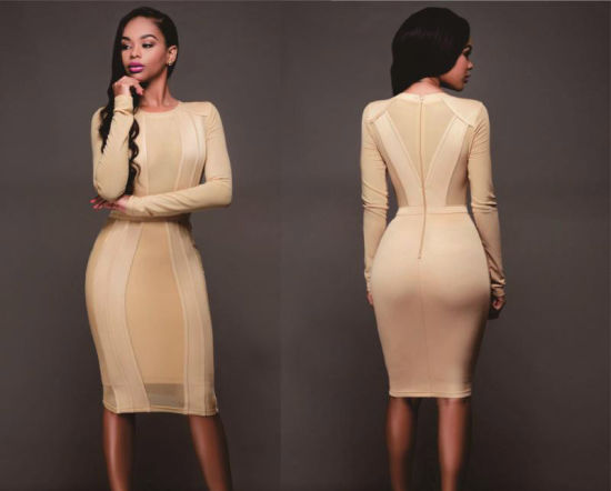 8d2bda2960 2018 Casual Dress Women New Bandage Dress Long Sleeve Sexy Winter Bandage  Dress