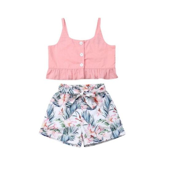 Kid Skirt Tops Wholesale High Quality Beautiful Fashion Kid Clothing Baby Girl Tops and Skirt