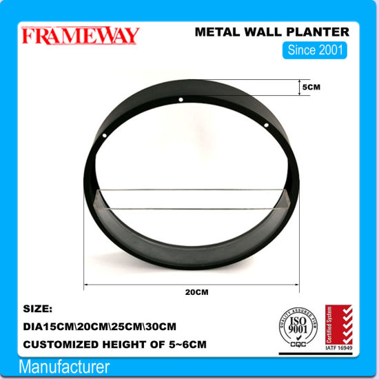 Custom Manufacturing Home Deco Metal Wall Planter with Arylic Water Tank Powder Coated Sheet Metal Forming Fabrication