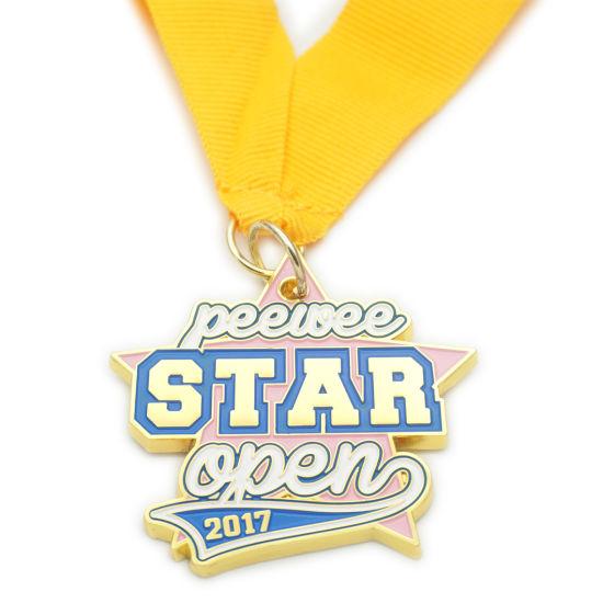 Cheap Souvenir Gift Sport Award Marathon Run Sublimation Custom Enamel Metal Brass Medal (FTMC2044)