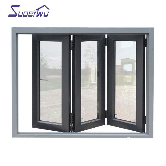 Wholesale Heat Insulating Energy Efficient Double Glazed Aluminium Folding Window