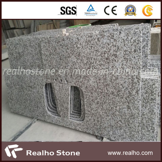 G439 Pauline Grey Granite Custom Kitchen Countertops With Sink Cut Out Pictures Photos