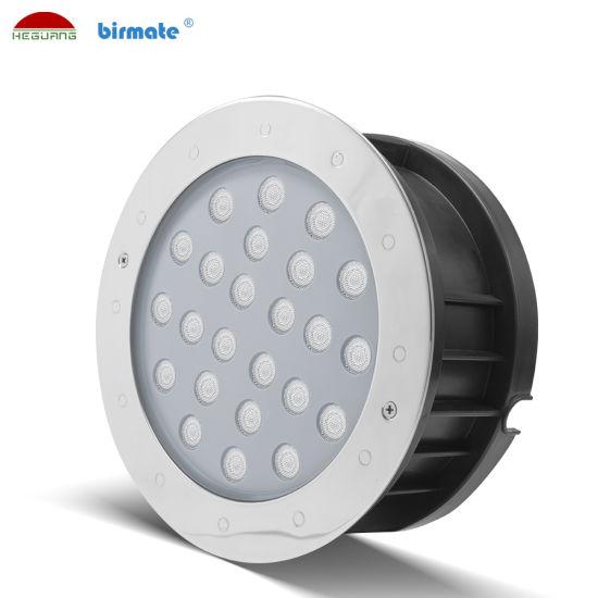 18W DC24V External Control LED Underwater Light Stainless Steel LED Ground Light Pool Lighting