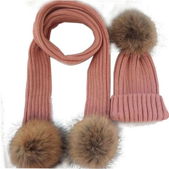 431a5a59a60 China Womens Crystal Wool Knit Beanie Fur POM POM Hat - China ...
