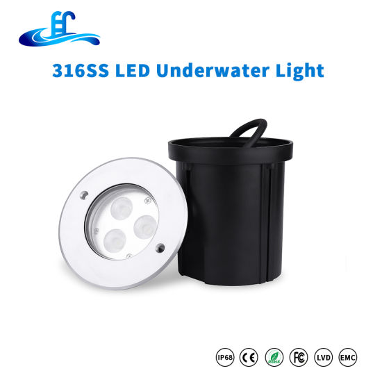 9watt High Power Recessed LED Swimming Pool Light with Two Years Warranty
