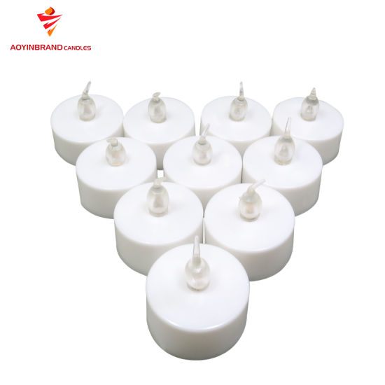 12g/14G Unscented White/Color Plastic Bag Wax Tealight Candle pictures & photos
