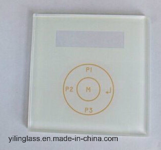 Tempered Switch Panel Touch Glass with Function Button Design pictures & photos