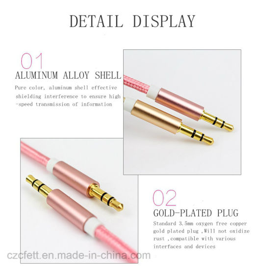 Colorful Nyon 3.5mm to 3.5mm Audio Cable pictures & photos