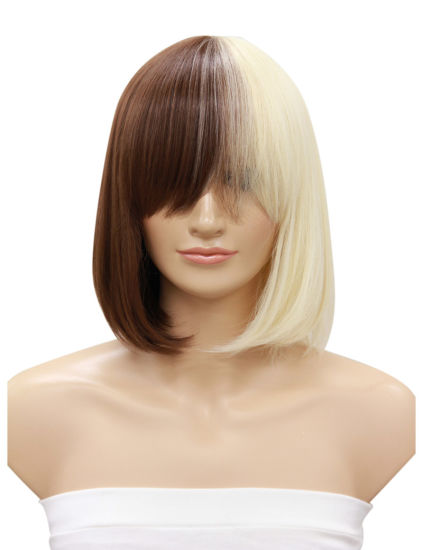 Wholesale Cheap Sexy Short Bob Straight Wigs Heat Resistant High Quality Synthetic Hair for Black Women