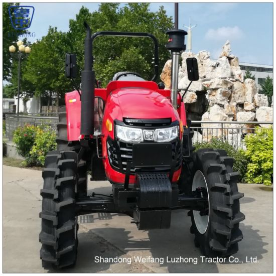 90HP to 130HP 4X4 Four Wheel Drive Diesel engine Farm/Agricultural Tractor  with farm implement such as plow trailer rotavator(90HP 95HP 100HP 110HP