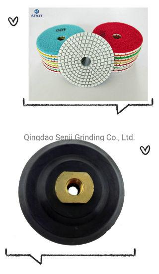 Diamond Polishing Pads 4 Inch Wet/Dry Set of 7 Backer Pad Best Value Granite