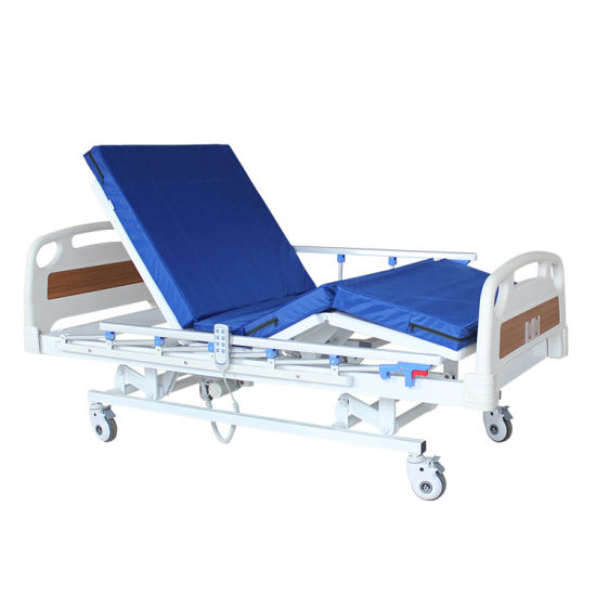 Nursing Home Care Height Adjustable Three Functions Clinic Patient Medical High Low Electric Hospital Bed