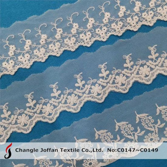 Fashion French Polyester Lace Trim Net Embroidery Lace (C0147)