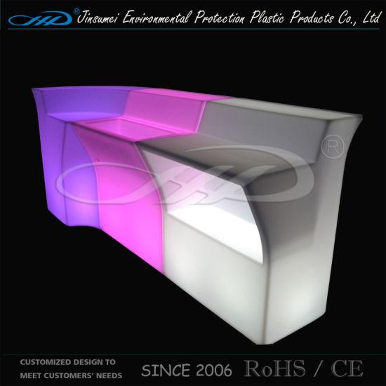 PE Material Rorational Moulding Plastic modern LED Bar Table