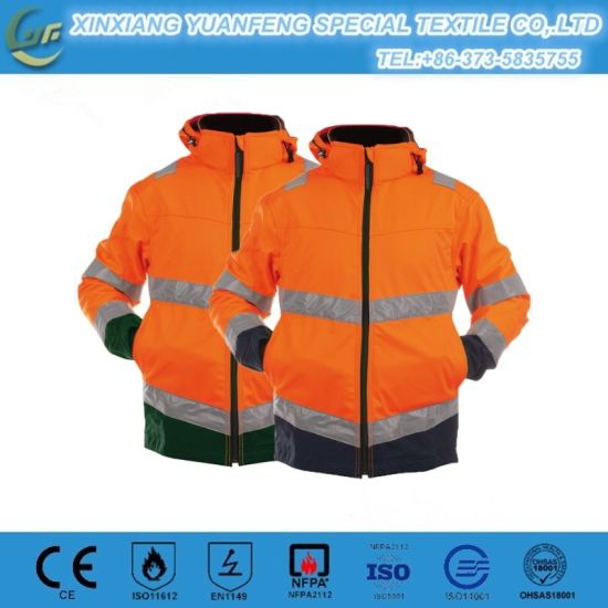 DIN 55473 8 Cal Elecrical Arc Flash Safety Suit with Reflective Tape Anti Static Uniforms