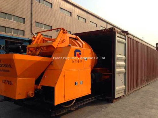 Diesel Hydraulic Trailer Concrete Mixer Pump for Sale pictures & photos