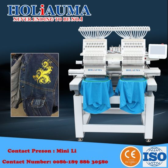 373a2e9cddf Ho-1502 2 Head Computerized Embroidery Machine Factory Sale Price  T Shirt  Embroidery Machine