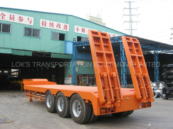 Tri-Axles Low Bed Semi Trailer pictures & photos