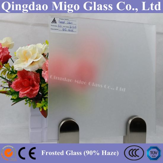 90% Frost Degree Acid Etched Misty Glass pictures & photos