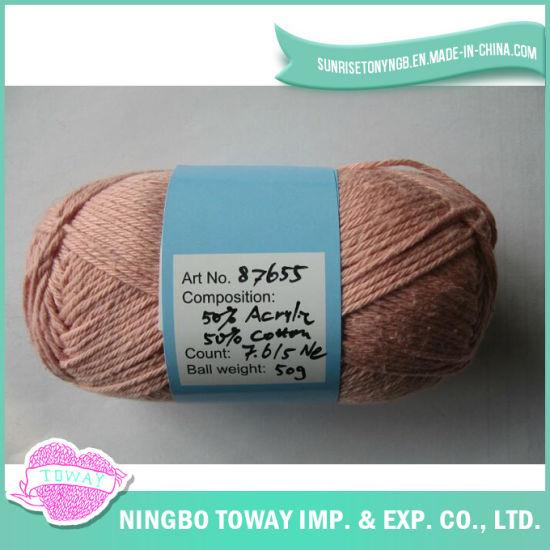100% Breathable Cotton Cross Stitch Thread Knitting Wool Yarn
