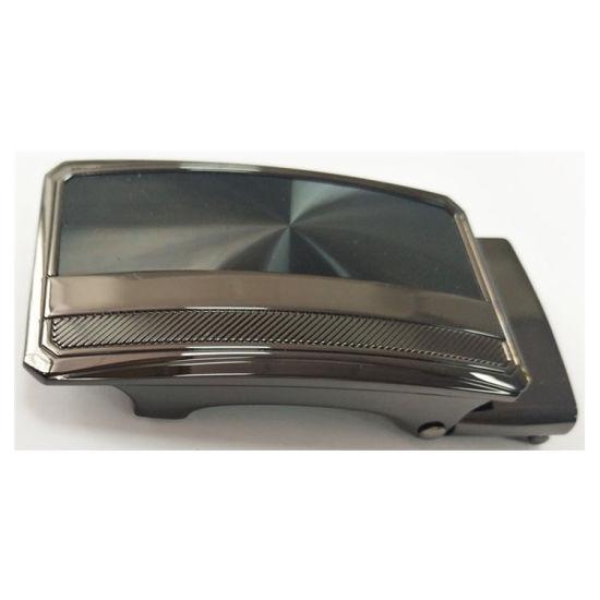 Customized Zinc Alloy Black Nickel Plated Sequin Design Belt Buckle