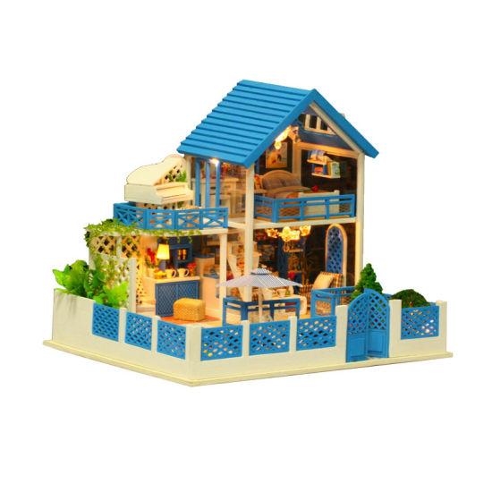 China Big Building Block Set Educational Kids Dollhouse With Light