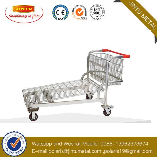 Supermarket Heavy Duty Transporter Warehouse Platform Trolley