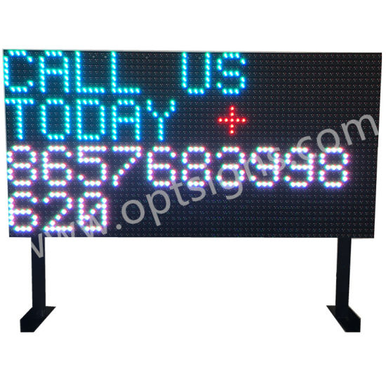 Outdoor Display Changeable Signs Full Color WiFi Programmable LED Message  Board