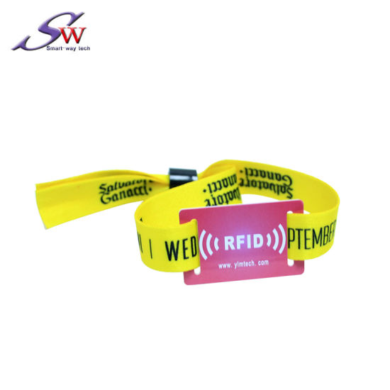 Full Color Concert Party RFID Tag Wristband, Fabric Cloth Wristband Festival Event RFID