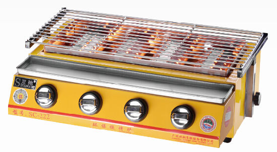 Stainless Steel Table Top BBQ 4 Burner Gas BBQ Grill
