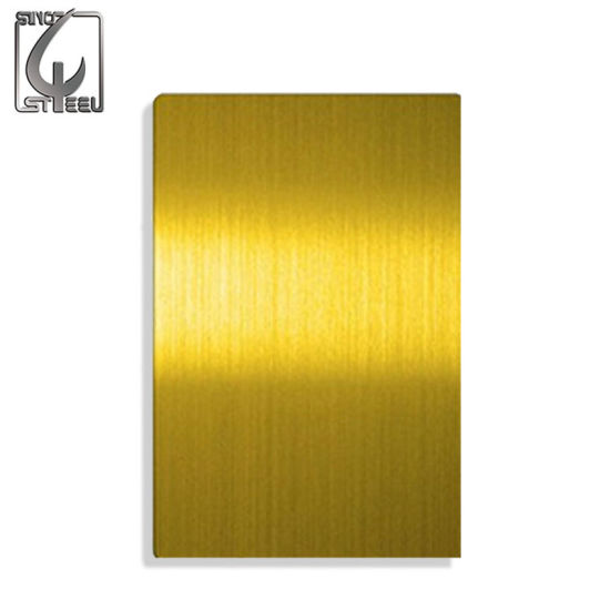 China Hairline Satin Finished 304 Stainless Steel Colored Sheets ...