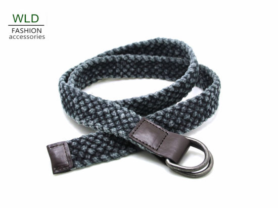 Fashion Style D-Ring Cotton Belt Ky5973
