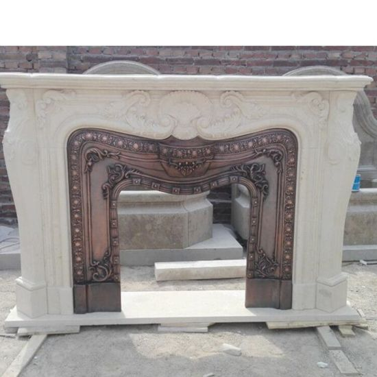 Indoor Used Freestanding Stone Fireplace Marble Mantels