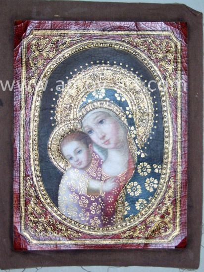 Handmade Classical Holy Mum Antique Canvas Oil Paintings pictures & photos