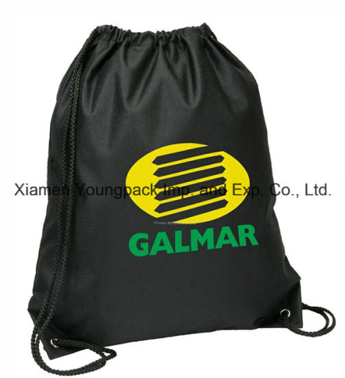 a9b8e1fbc5bb Custom Black Recycled Pet Non Woven Drawstring Backpack Bag pictures    photos
