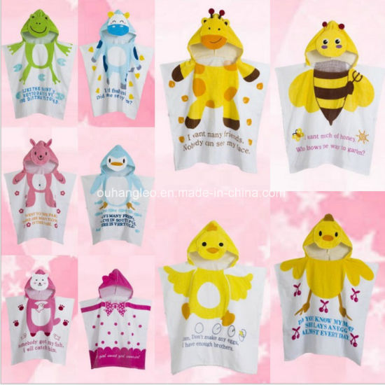 Promotional Hooded Children / Baby / Kids Cotton Bathrobe / Pajama / Nightwear / Printed Bath Towel pictures & photos
