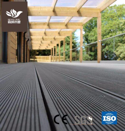 Outdoor Hollow WPC Wood Plastic Composite Flooring