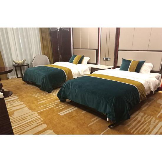 Five Star Luxury Modern Wooden Hilton Hotel Bedroom Furniture Set For Sale
