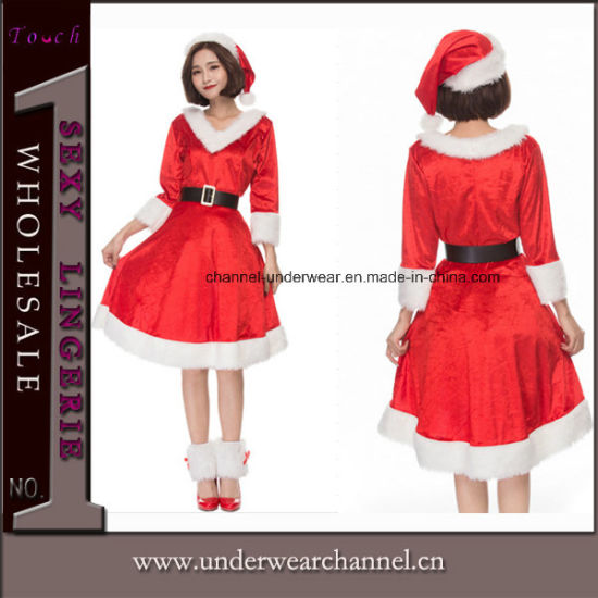 2bd5530d902f 2018 Sexy Delightful Santa Sweetie Adult Christmas Dress Costume (TLQZ051)